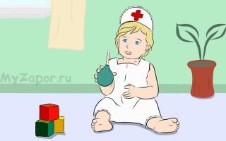 Клизма для детей – техника выполнения и виды