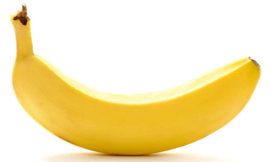 Желтый спелый банан