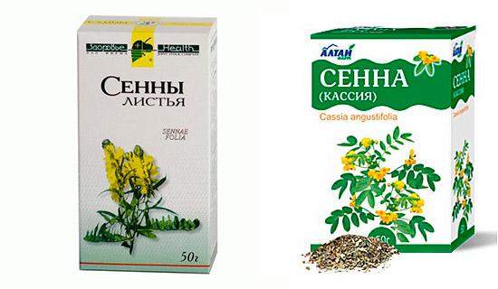 Упаковка листьев сенны