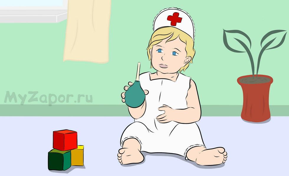 Слабительные клизмы от запоров для детей разного возраста