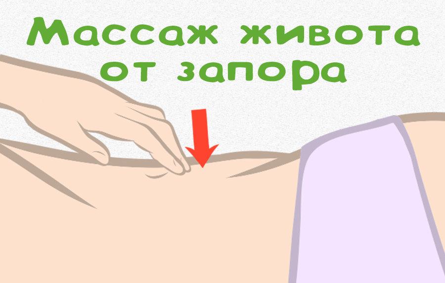 массаж живота от запора